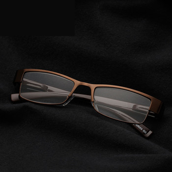 High Quality Men Metal  Reading Glasses Anti Reflection Computer Working Resin Reading Glass Eyewear Diopter reflection