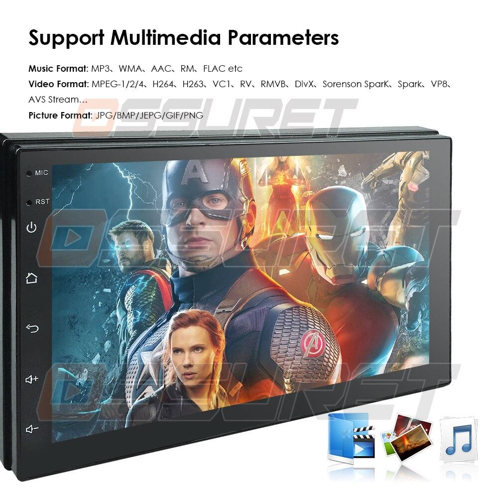 2 Din Android 8.1 universel voiture Audio stéréo Radio avec GPS WiFi GPS Navigation vidéo tête unité voiture multimédia lecteur Mic BT carte - 4