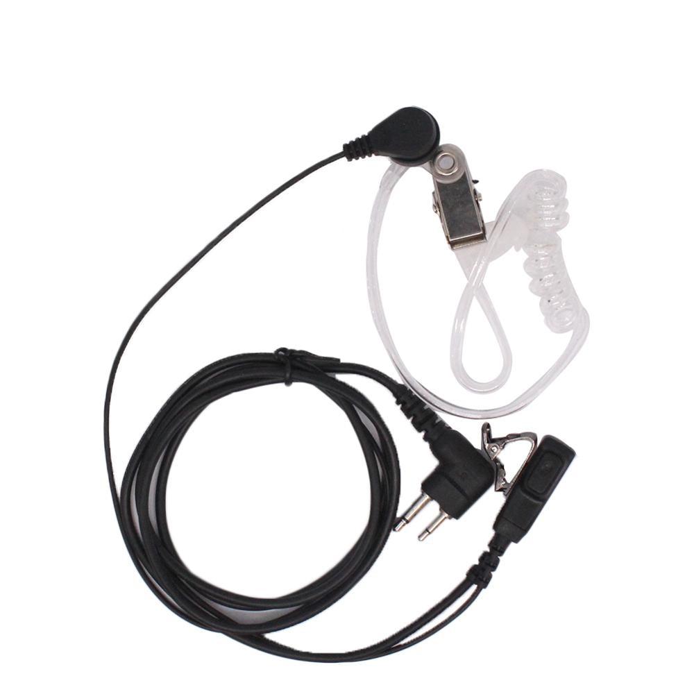 2Pcs Air Acoustic Tube Earpiece With PTT For Motorola CP140 EP450 PR400 CP200 CP150 DP1400 CP160 GP3688 TC-610 TC-620 TC-508