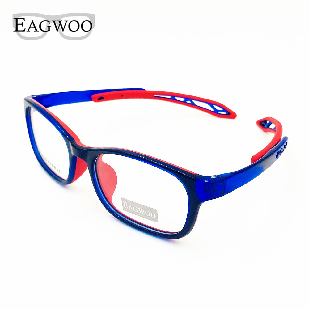 Eagwoo Silicon Soft  Children Eyeglasses Flexiable Temple Boy Girl Sepectacle Optical Frame Temple Adjustable Eye Glasses 105