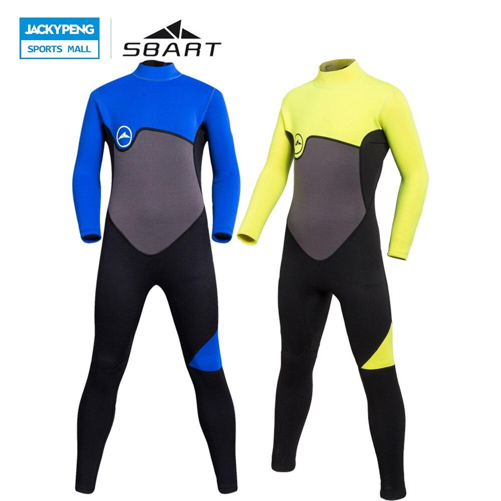 SBART 2018 Wetsuits Diving Kids 2MM Neoprene Surfing Wetsuit Girls Boys Anti UV Jellyfish Spearfishing Scuba Diving Equipment цена