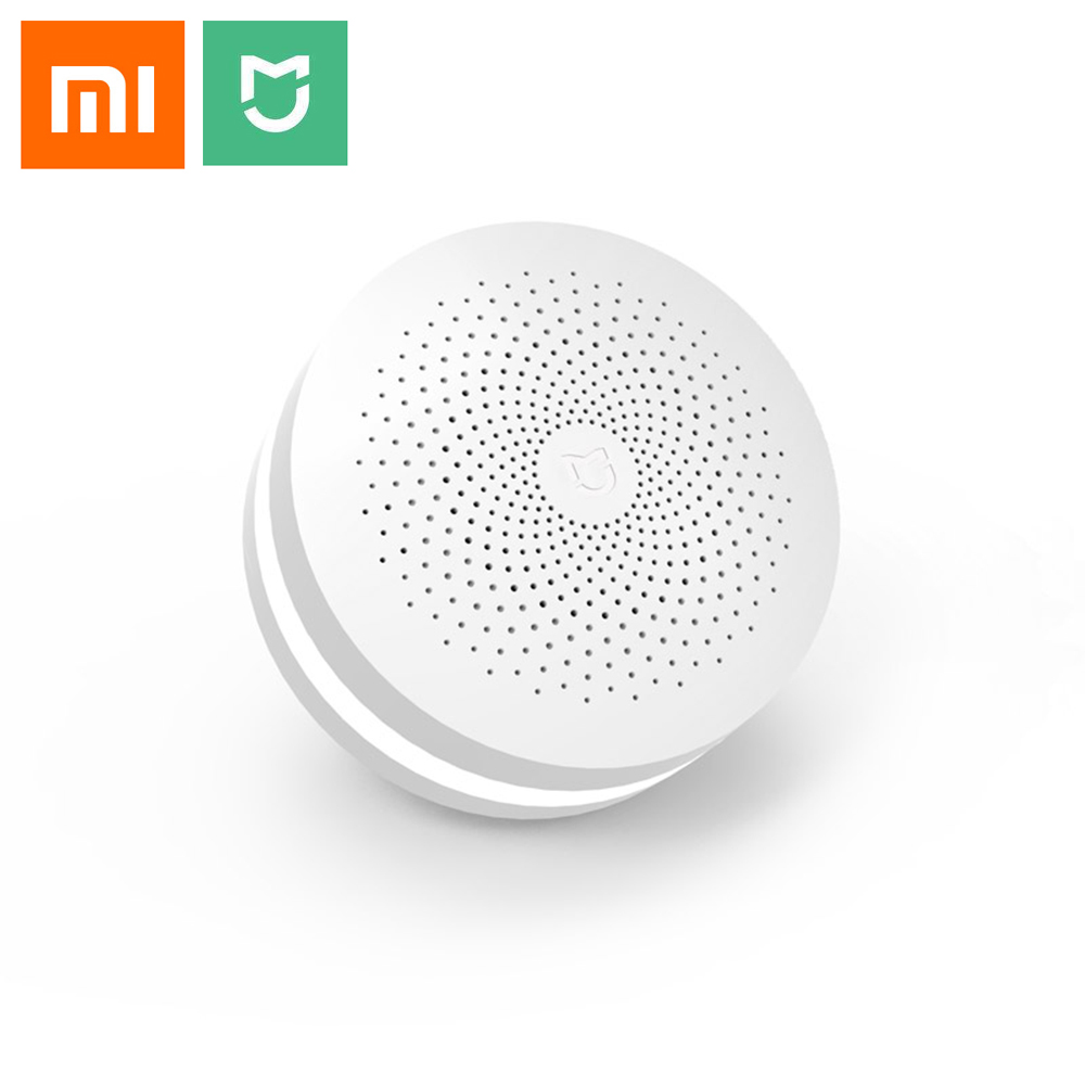 Update Version Original Xiaomi Mijia Smart Home Multifunctional Gateway 2 Alarm System Intelligent Online Radio Night Light Bell xiaomi mijia smart temperature control