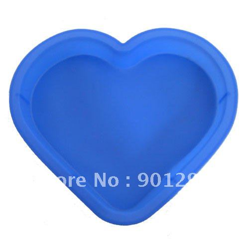 wholesale free shipping big heart silicone mold non stick oven microwave freezer and dishwasher. Black Bedroom Furniture Sets. Home Design Ideas
