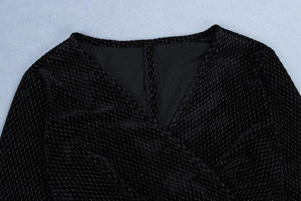 Sexy Haute De Bal Femmes Soirée Robe cou Rayonne Noir Ouvert Qualité Élégant V Fourchette qq4p5frx