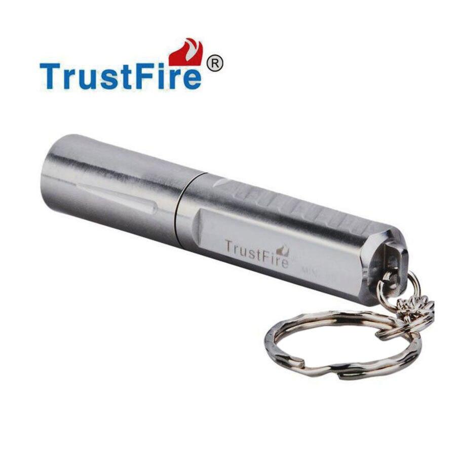 Trustfire mini03 Stainless Steel Waterproof Mini Flashlight CREE XPG R5 <font><b>LED</b></font> <font><b>Torch</b></font> Keychain Light Lantern+Trustfire 10440 battery