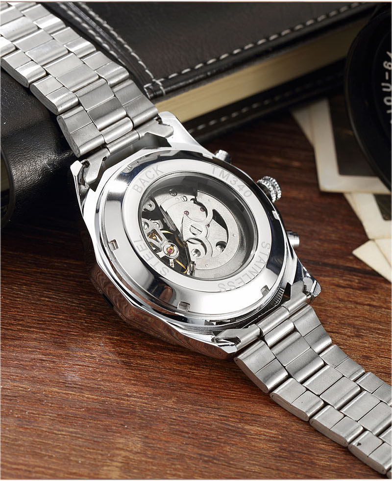 chinês relógios de pulso mecânico dos homens