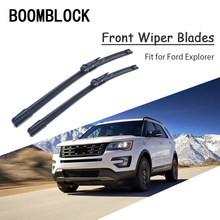 Car Styling Soft Rubber Front Wiper Blades Arm Kit For Ford Explorer 2017 2018 4th 5th