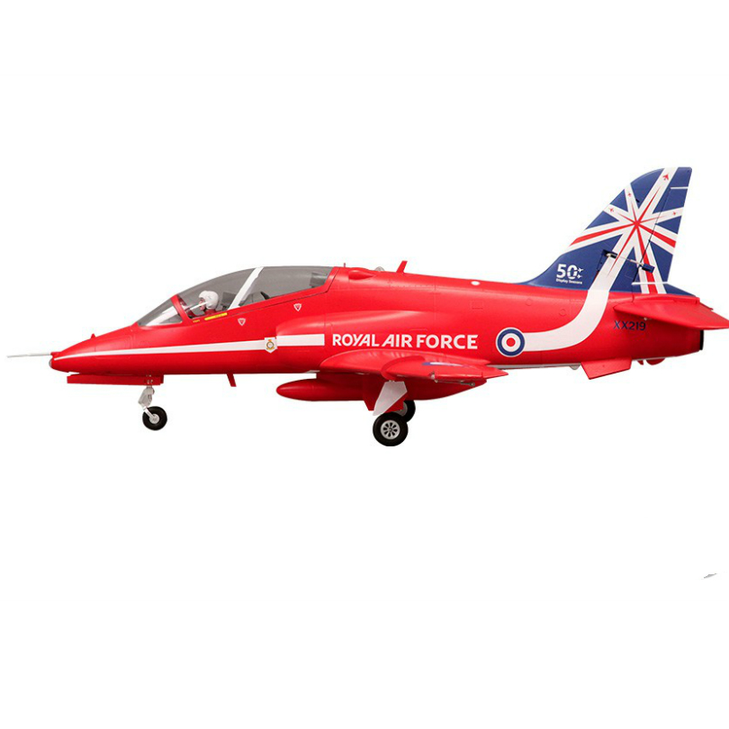 FMS 80mm Bae Hawk Red Arrow Ducted Fan EDF Jet 6S 6CH With Flaps Retracts EPO PNP RC Airplane Model Hobby Plane Aircraft Avion