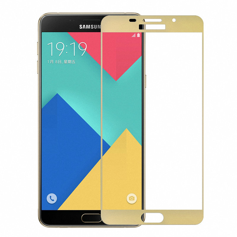 9H 2.5D full Cover Tempered Glass Screen Protector For <font><b>Samsung</b></font> Galaxy A9 Pro 2016 Duos <font><b>A9100</b></font> SM-<font><b>A9100</b></font> Protective Glass film image