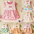2016 nova 1 pcs baby dress summer dress for party girl dress 1 anos de aniversário de aniversário dress 0-24 m