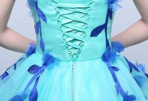 Image 5 - Robes De mariée colorées dorganza, robes De princesse bleue printemps, pour Studio Photo Paty, robe De mariée, modèle 100%