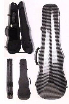 black 4/4 violin Case carbon Fiber Hard Case Back Strap Black Color 1.9kg Yinfente