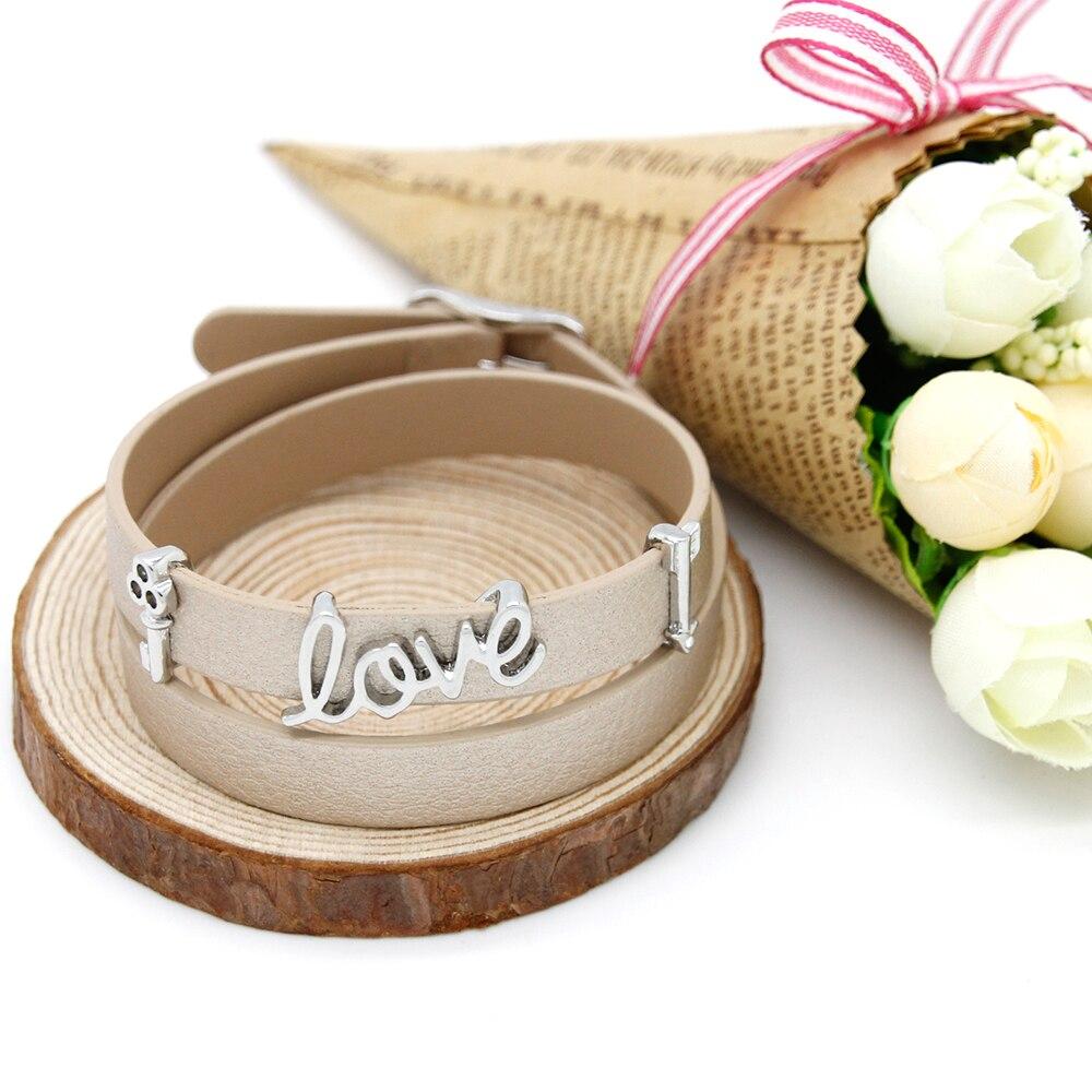 Diy Charm Bracelets: Trendy Slide Beads Bracelet Charms Collective DIY Leather