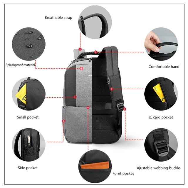 Tigernu Unique technique multifunction schoolbag for teenage USB 15.6 Laptop Anti theft Fashion Business Men backpack 4