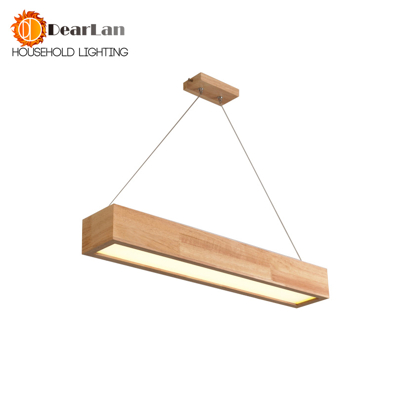 15W 25W 30W LED Wooden Pendant Light With Arcrylic Shade Modern Style Pendant Lamp For Living
