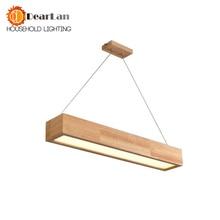 Деревянный подвесной светильник с акриловым абажуром, светодиодный светильник в современном стиле для гостиной, гостиной, спальни, 15 Вт, 25 Вт, 30 Вт