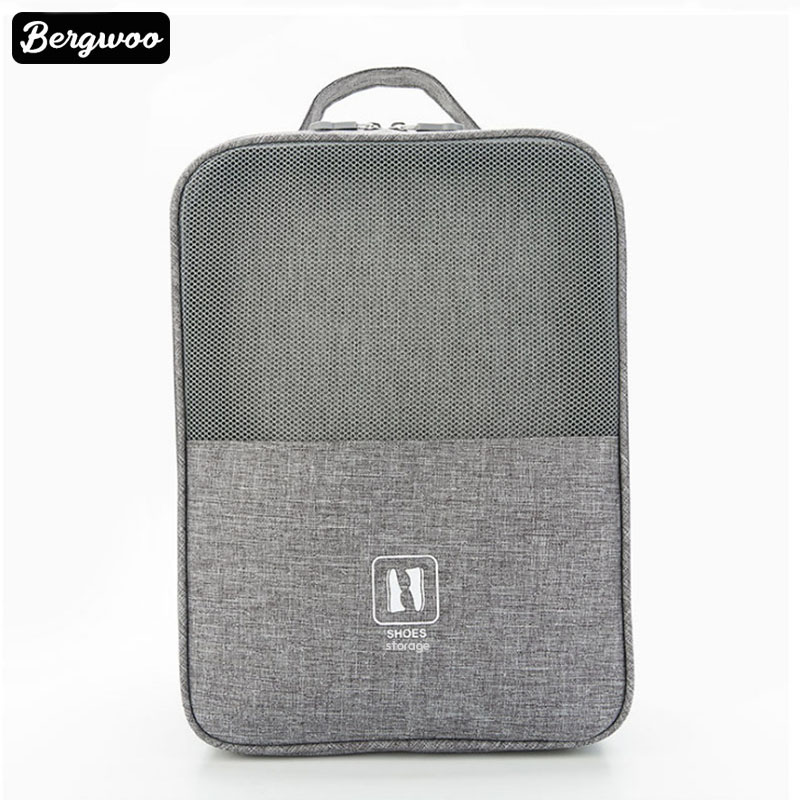 3 Layers Polyester Travel Shoe Organizer Storage Bag For Shoes  Hang On Suitcase