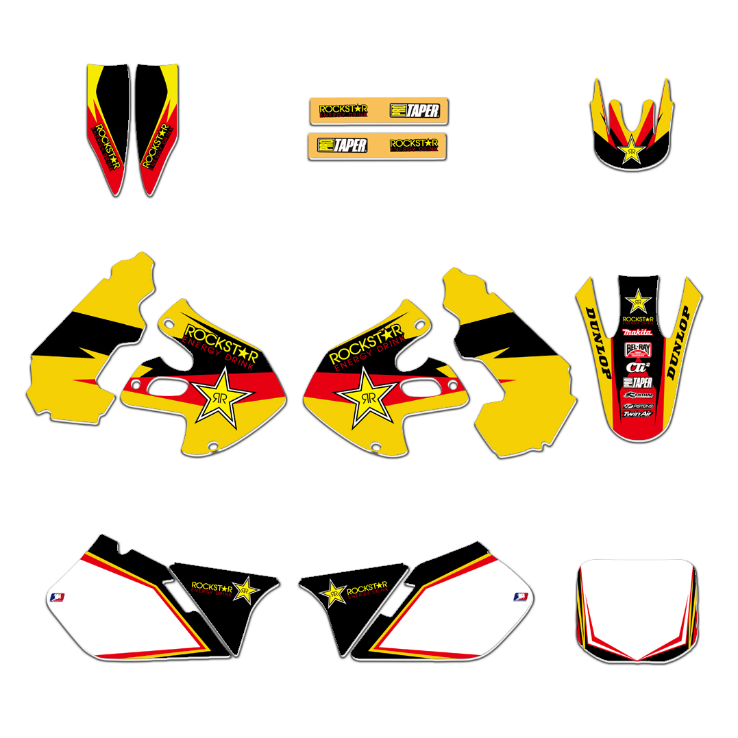 NEW Team Full Set Decals Stickers Graphics Backgrounds Kits For Suzuki RM 125 250 RM125 RM250