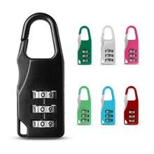 Fashion Mini 3 Digit Code Combination Lock Save Luggage Password Lock Padlock Suitcase Travel Luggage Boxes Safety Pendant Decor lock tsa resettable 3 digit combination travel luggage suitcase code lock padlock