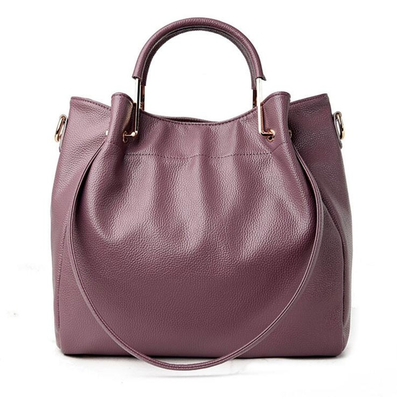 Genuine Leather Women Handbag Tote Bucket Fashion Ladies Hand Bags Crossbody Bag