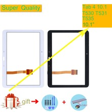 цены на Super Quality For Samsung Galaxy Tab 4 10.1 SM-T530 T530 SM-T531 T531 T535 Touch Screen Digitizer Panel Sensor Touchscreen  в интернет-магазинах
