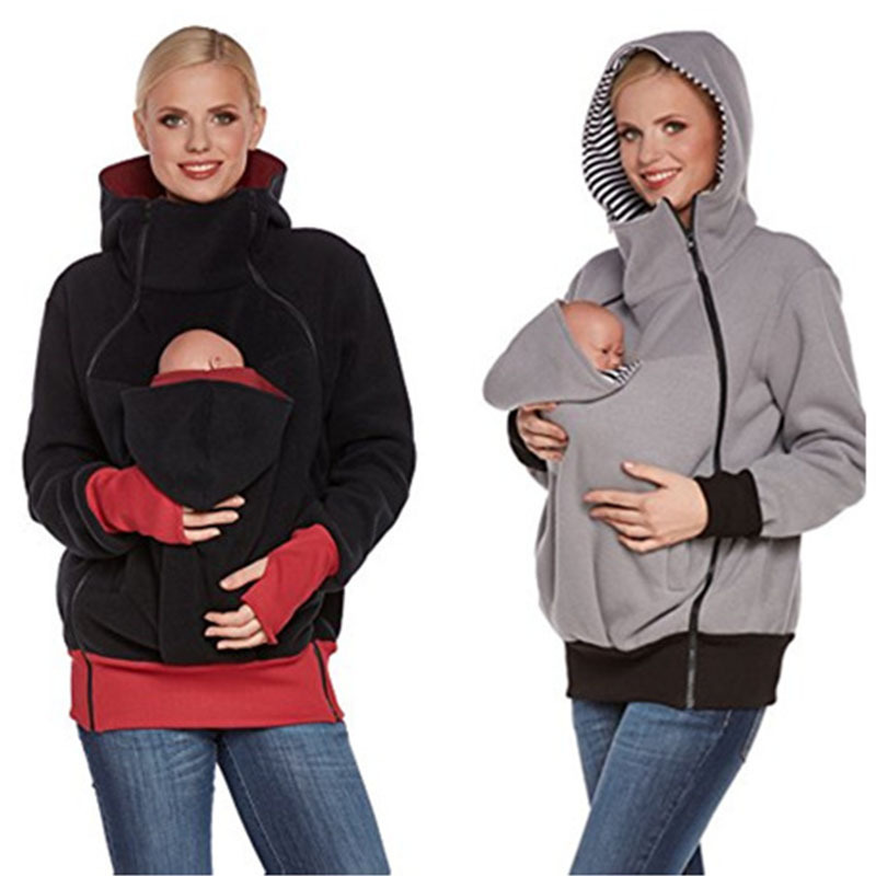 Daddy BabyJacket Carrier Outwear Baby Holder Materity Carrier Sweatshirts Multifunction Warm Cotton Kangaroo Coat Pregnant