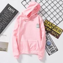 2018 new style long sleeve hoodies harajuku kpop sweatshirt bt21 lil peep kawaii tops hoodies women aesthetic pink coat with hat