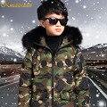 Kindstraum Meninos Casaco de Inverno Crianças Algodão Super Quente de Moda de Nova Estilo da Camuflagem Jaqueta de Algodão Crianças Inverno Outwear, MC260