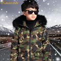 Kindstraum Winter Children Super Warm Cotton Coat Boys New Fashion Camouflage Style Jacket Kids Cotton Winter Outwear,MC260