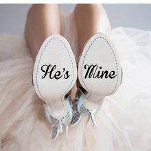 4 шт./компл. 5 см Свадебная наклейка для обуви виниловые наклейки обувь наклейка пятки Жених невесты, я тоже, он мой она моя Цитата WE23