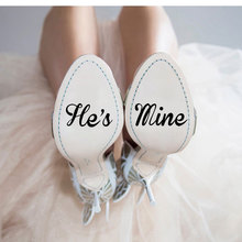 4pcs/set 5cm Wedding Decal For Shoes Vinyl Decals Shoe Heel Sticker Bride Groom,I Do,me Too,hes Mine Shes Quote WE23