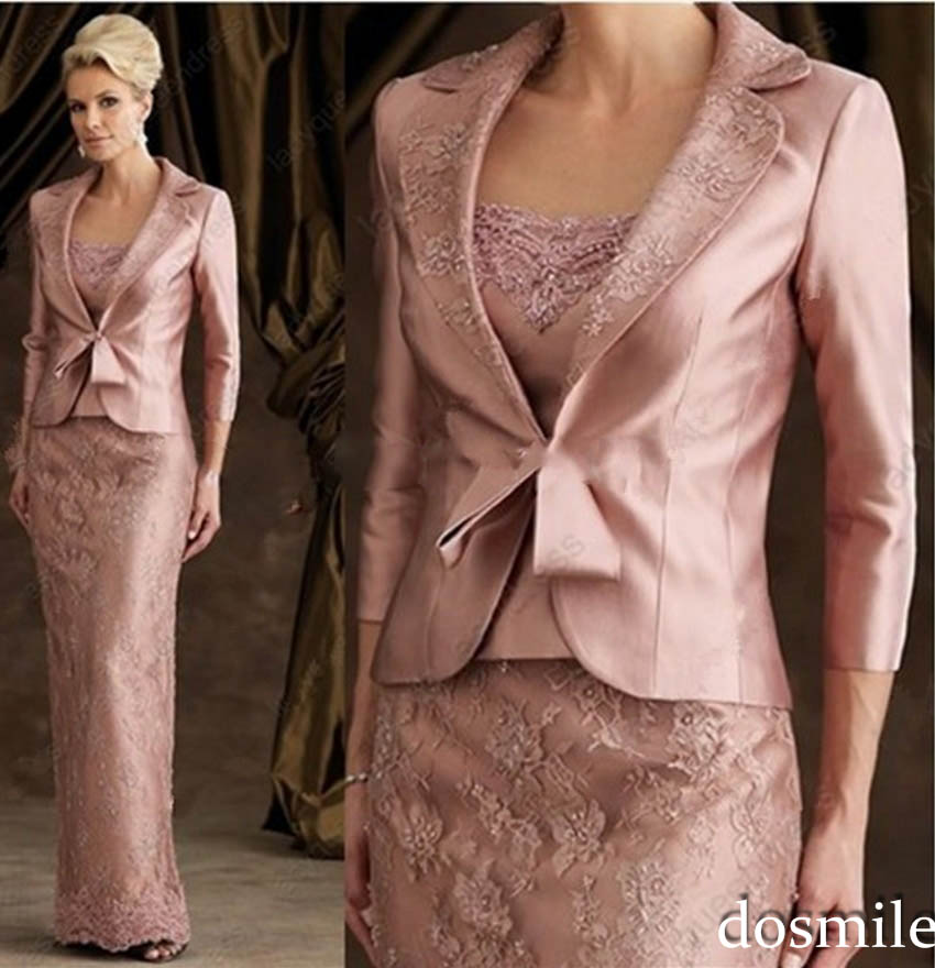 2016 Long Formal Elegant Mother Of The Bride Pant Suits