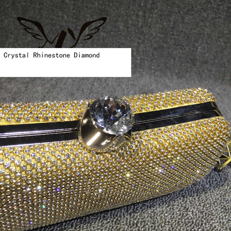 Женская вечерняя сумочка womenrhinestone С кристалалми и стразами Ежедневные клатчи сумки свадебные Кошелек вечерние банкетные модная сумочка для вечеринки