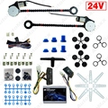 24V Car/Truck Universal 2-Doors Electric Power Window Kits with 3pcs/Set Switches and Harness #J-1420