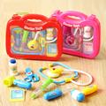 Kids Play House Plastic Toys Doctor Set Simulation Sound Light Medicine Box Doctor Toys Stethoscope Injections