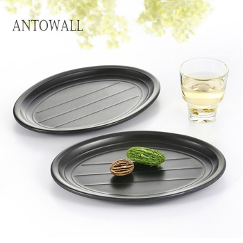 ANTOWALL HOT Sale Plastic Dish, Melamine Oval Serving Dish Plate for Restaurant, Multiple Sizes Available