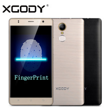 XGODY Smartphone Fingerprint 8GB ROM 1G RAM Quad Core D21 5.5 Inch Android 6.0 Mobile Cell Phone Cheap Smart Phone
