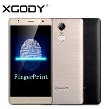 Xgody смартфон отпечатков пальцев ram 1 ГБ + rom 8 ГБ quad core android 6.0 5.5 дюймов 8mp камера телефоны celular 3 г сенсорный android телефоны