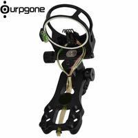 Ourpgone Brand 1*Outdoor Hunting Recurve Bow Sight Steel Compound Bow 5 pins Bow Sight Light Rope Fiber Bow Sight Free shipping!