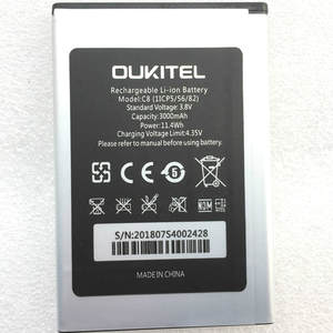 3000mAh Battery For Oukitel C8 Mobile phone battery