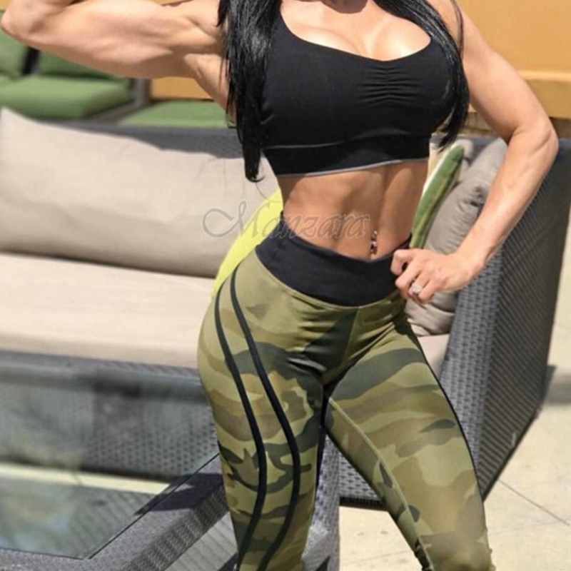 2019 Camouflage stripe fashion leggins for women leggings for fitness sexy legging  jogging push up gymshark plus size pants