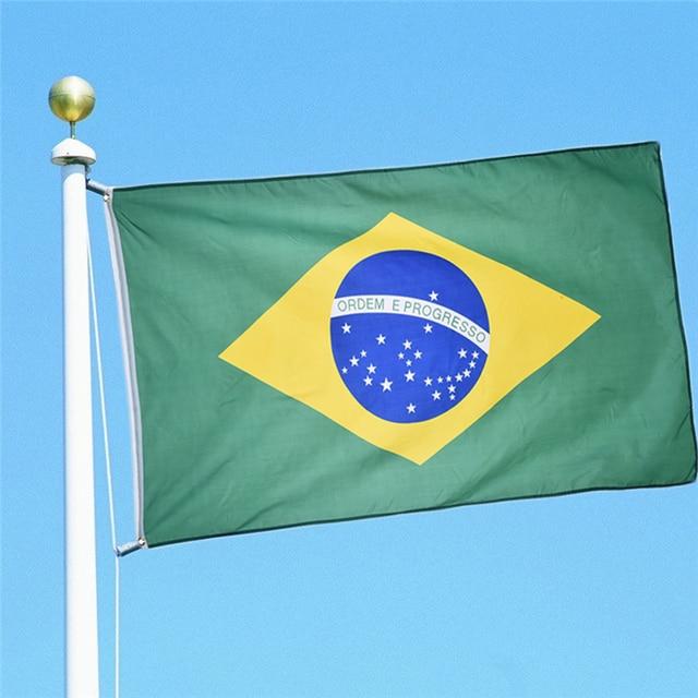 groothandel nieuwe 3x5 voeten grote opknoping braziliaanse nationale