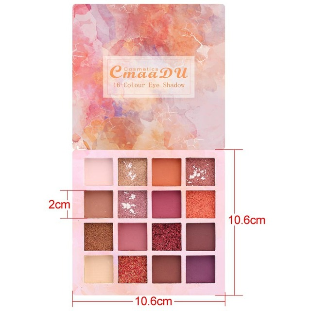 16 Colors Makeup Eyeshadow Palette Diamond Shimmer Glitter Eye Shadow Waterproof Long-lasting Makeup Eye Cosmetic TSLM2 5
