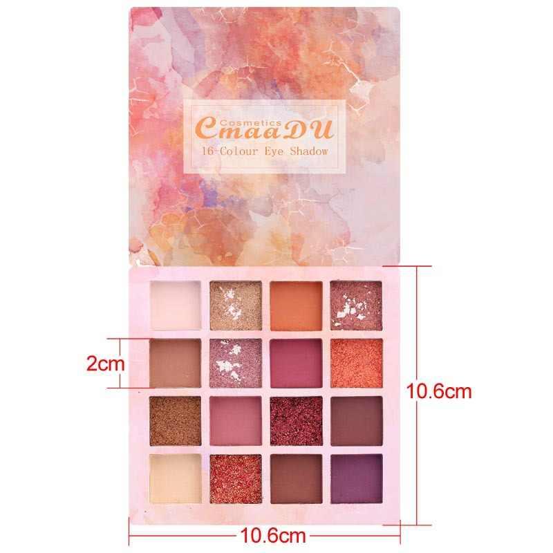 16 สีอายแชโดว์แต่งหน้า Palette Diamond Shimmer Glitter Eye Shadow Makeup เครื่องสำอางค์ Eye เครื่องสำอางค์ TSLM2