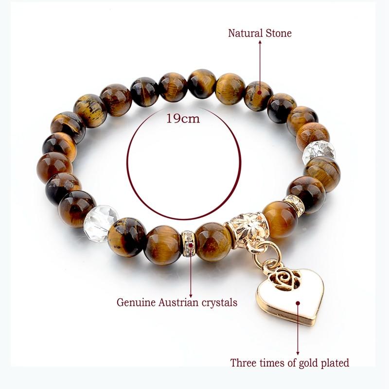Szelam Bijoux καφέ φυσικό βραχιόλι πέτρα - Κοσμήματα μόδας - Φωτογραφία 2