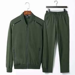 Loldeal Для Мужчин's Full-Zip спортивный костюм Sportman комплекты Повседневное спортивный костюм куртка на молнии брюки набор плюс Размеры Спортивная