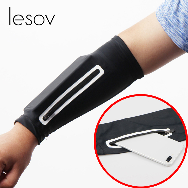 Men's Accessories Imported From Abroad Lesov Unisex Arm Warmers Cycling Flexible Sunscreen Riding Fitness Long Cuff Armguard Mobile Arm Pack Elbow Sleeve Men Women New Men's Arm Warmers