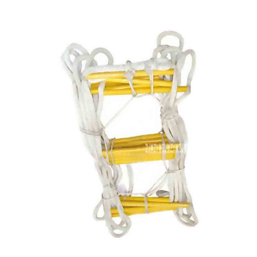 Ladders Learned 20m Rescue Rope Ladder 4-5th Floor Escape Ladder Emergency Work Safety Response Fire Rescue Rock Climbing Anti-skid Soft Ladder