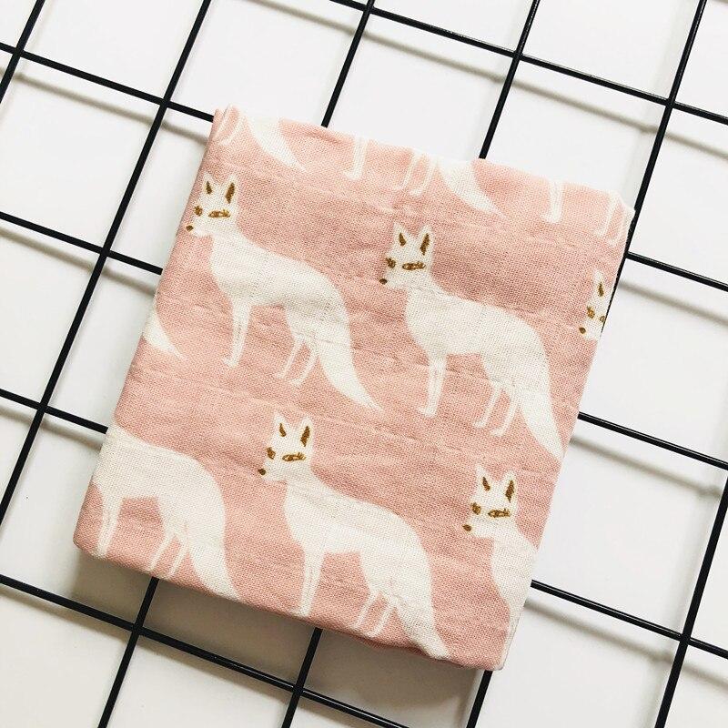 Детское бамбуковое одеяло из органического хлопка для новорожденных, муслиновое Пеленальное полотенце для кормления - Цвет: fox organic