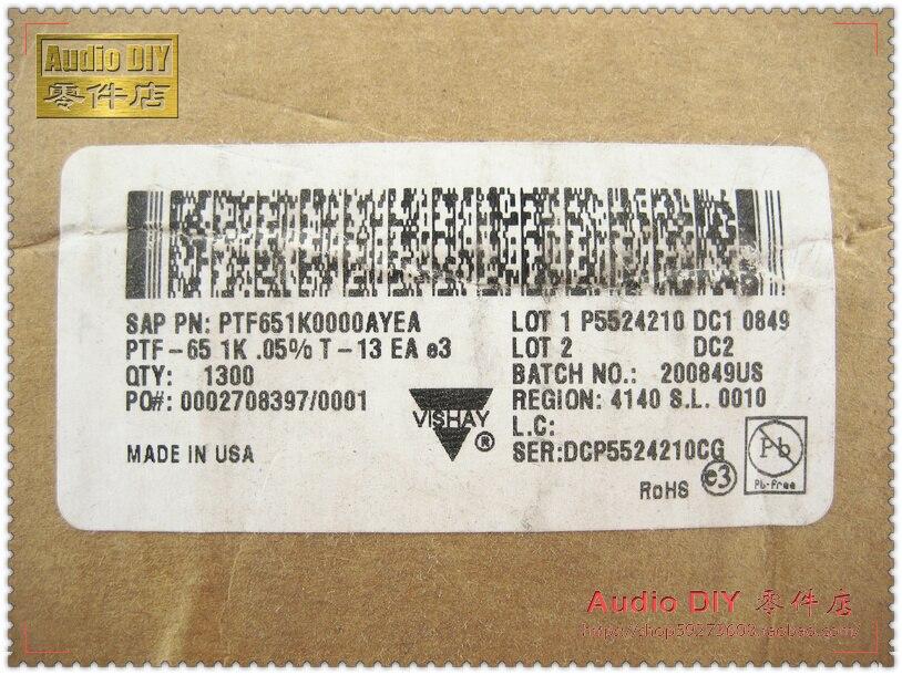 2018 sale 30PCS VISHAY DALE PTF65 1K/0.5W 0.05% 10ppm High Precision Low Temperature Drift Metal Film Resistors free shipping